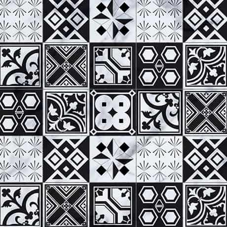 Crédence Salle de Bains Carreaux Noir et Blanc