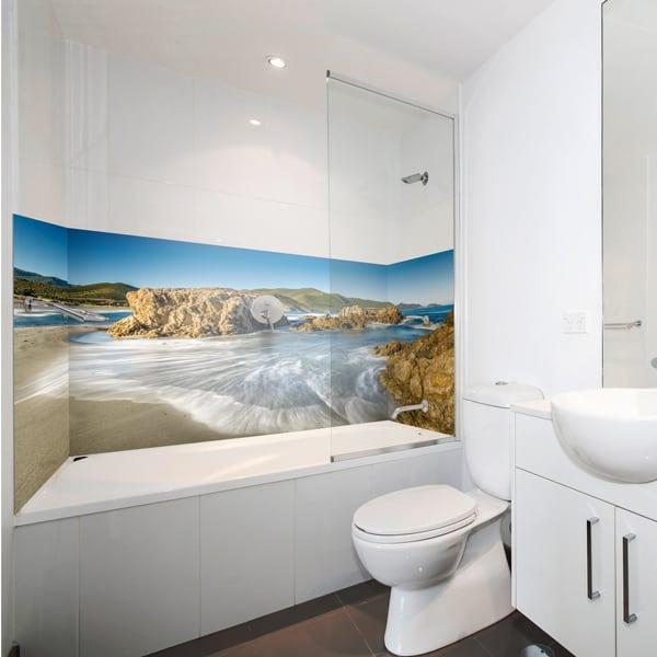 Panneau mural Désert des Agriates pour couvrir les murs de la salle de bains, pano-deco