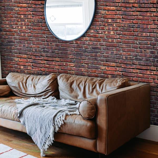 Idée déco salon, mur type loft new yorkais sur mesure