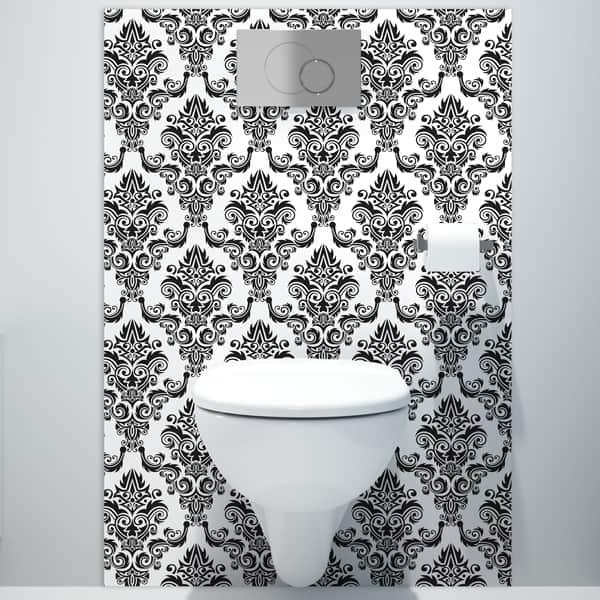 crédence aluminium composite, rénovation mur salle de bains sur mesure, décor baroque