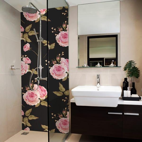 Rénovation salle de bains, baignoire et douche sans joint, crédence panodeco english style