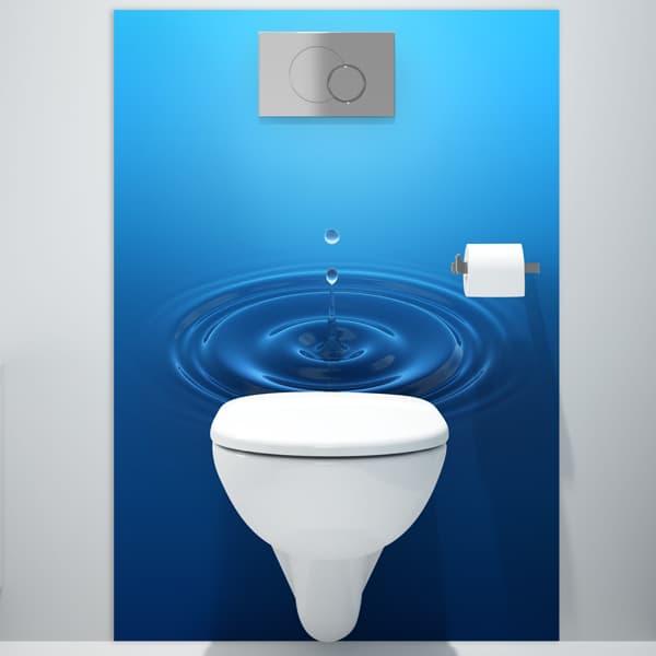 décoration mural salle de bains décor Water drop, crédence mate ou brillante, dimensions personnalisables