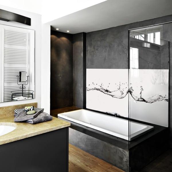decoration mural salle de bains aqua. panneau étanche sur-mesure, facile d'entretien, panodeco