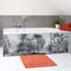 revêtement tablier de baignoire, décor végétal, panneaux sur-mesure, pano-deco