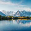 crédence pano deco, photographie haute résolution Mont Blanc