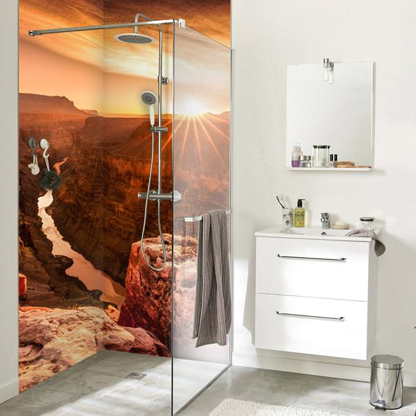 panneaux mural salle de bains sur mesure